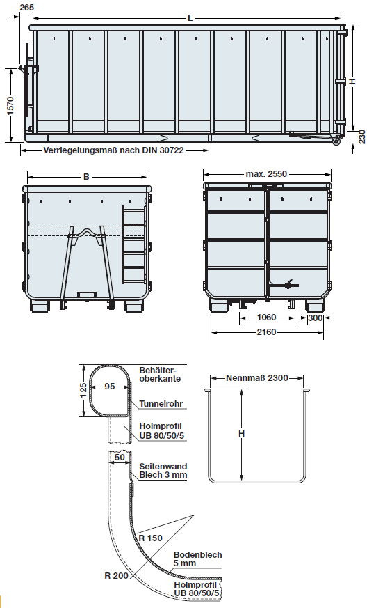 Roll-on Roll-off containers for hook-lift systems | BERINGER Behälter